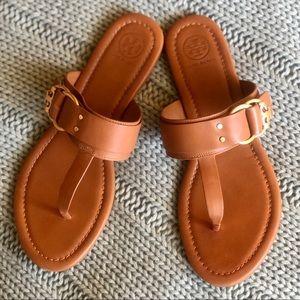 Tory Burch EUC Marsden Brown Leather Sandals